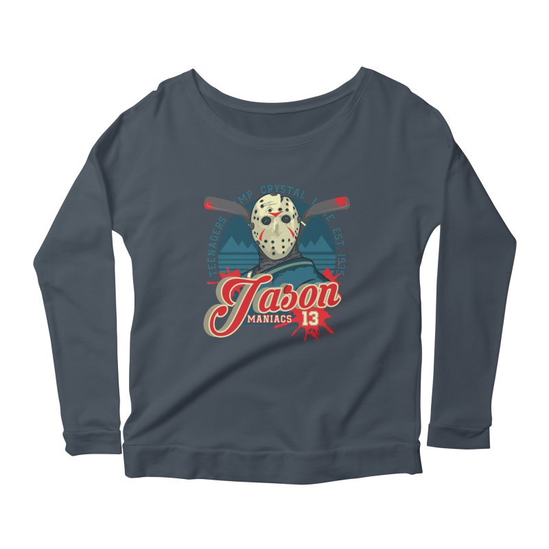 Jason Maniacs Women's Scoop Neck Longsleeve T-Shirt by malgusto