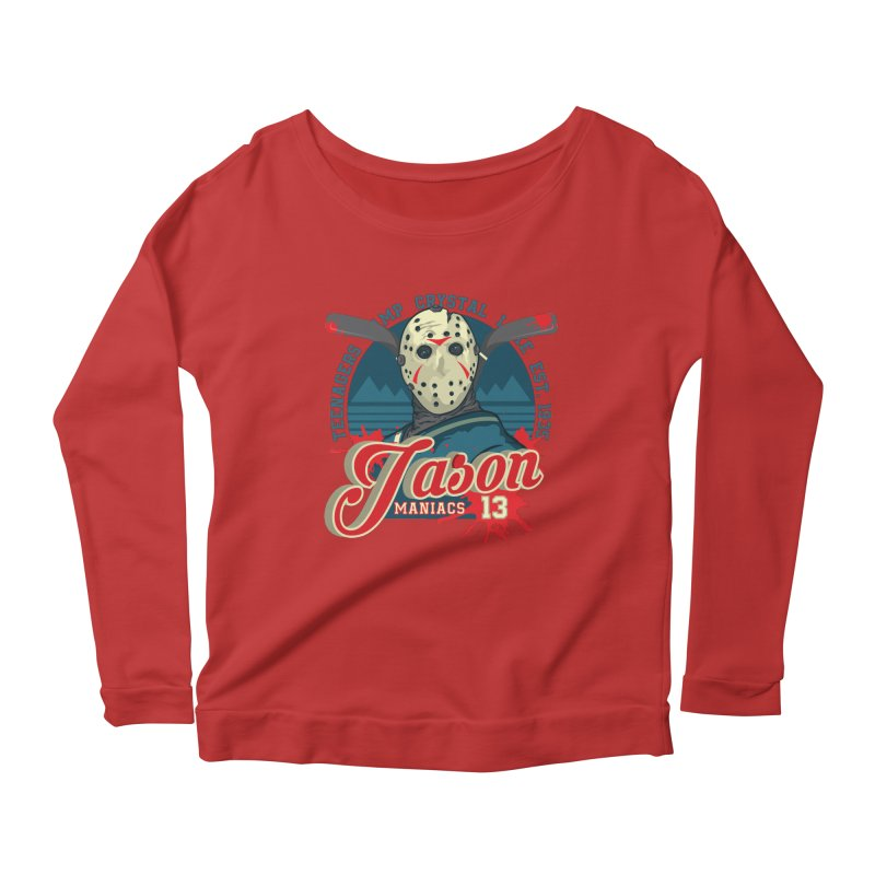 Jason Maniacs Women's Scoop Neck Longsleeve T-Shirt by malgusto