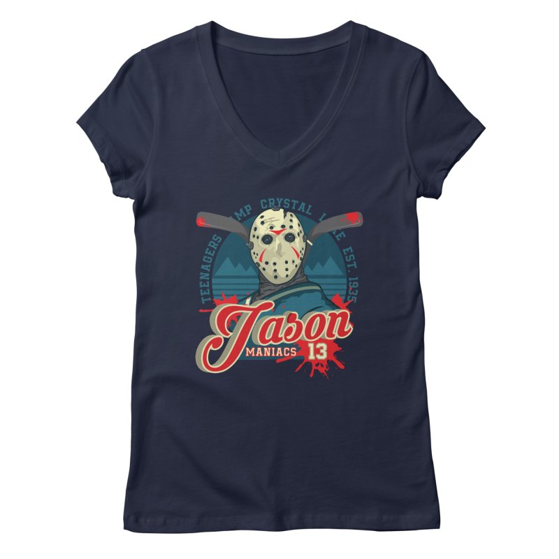Jason Maniacs Women's Regular V-Neck by malgusto