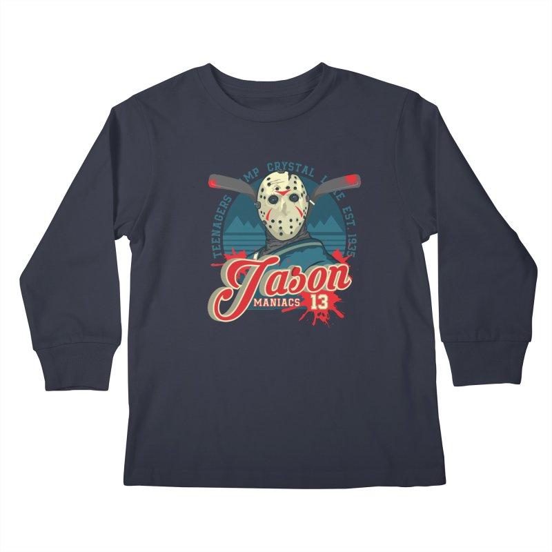 Jason Maniacs Kids Longsleeve T-Shirt by malgusto