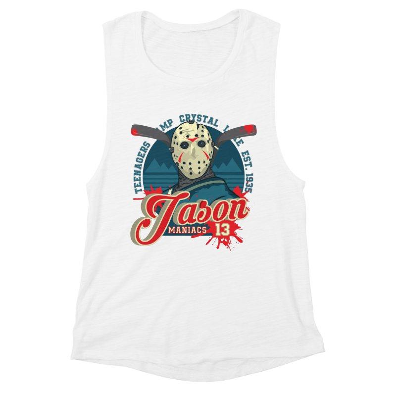 Jason Maniacs Women's Muscle Tank by malgusto