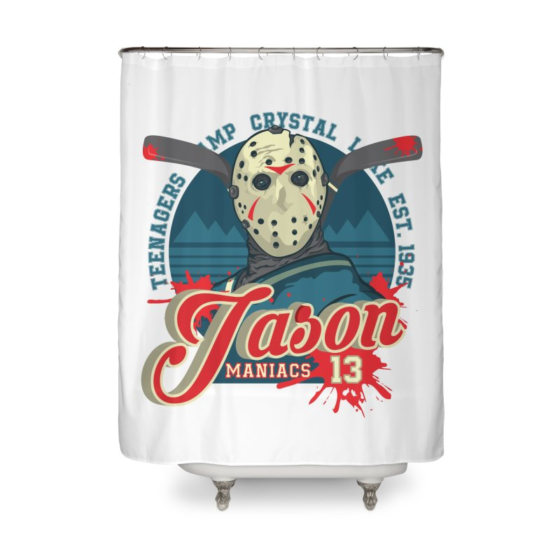 Jason Maniacs Home Shower Curtain by malgusto