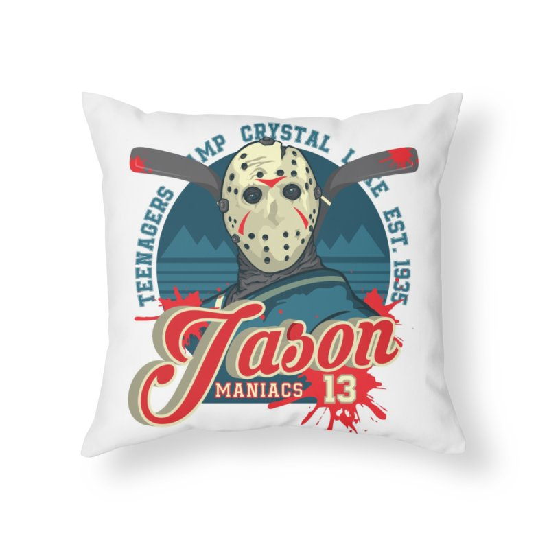 Jason Maniacs Home Throw Pillow by malgusto