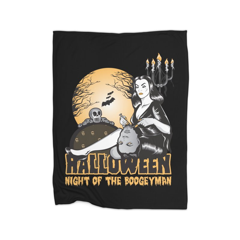 Night of the boogeyman Home Fleece Blanket Blanket by malgusto