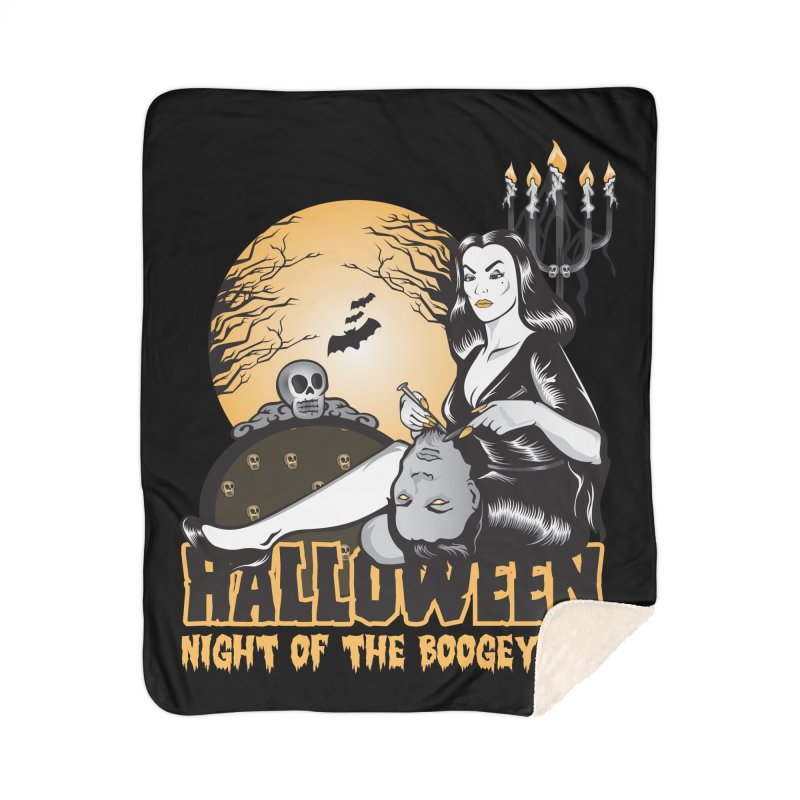 Night of the boogeyman Home Sherpa Blanket Blanket by malgusto