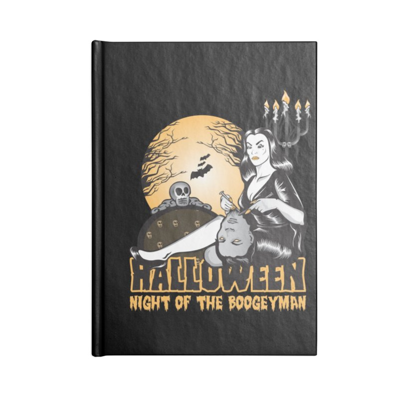 Night of the boogeyman Accessories Lined Journal Notebook by malgusto