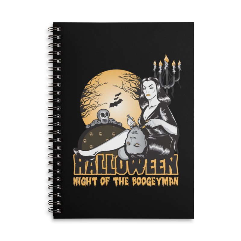 Night of the boogeyman Accessories Lined Spiral Notebook by malgusto