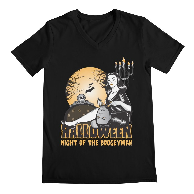 Night of the boogeyman Men's V-Neck by malgusto