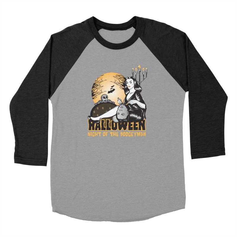 Night of the boogeyman Men's Baseball Triblend Longsleeve T-Shirt by malgusto