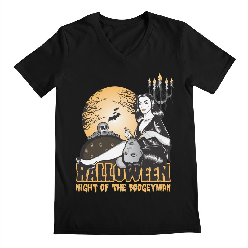 Night of the boogeyman Men's Regular V-Neck by malgusto