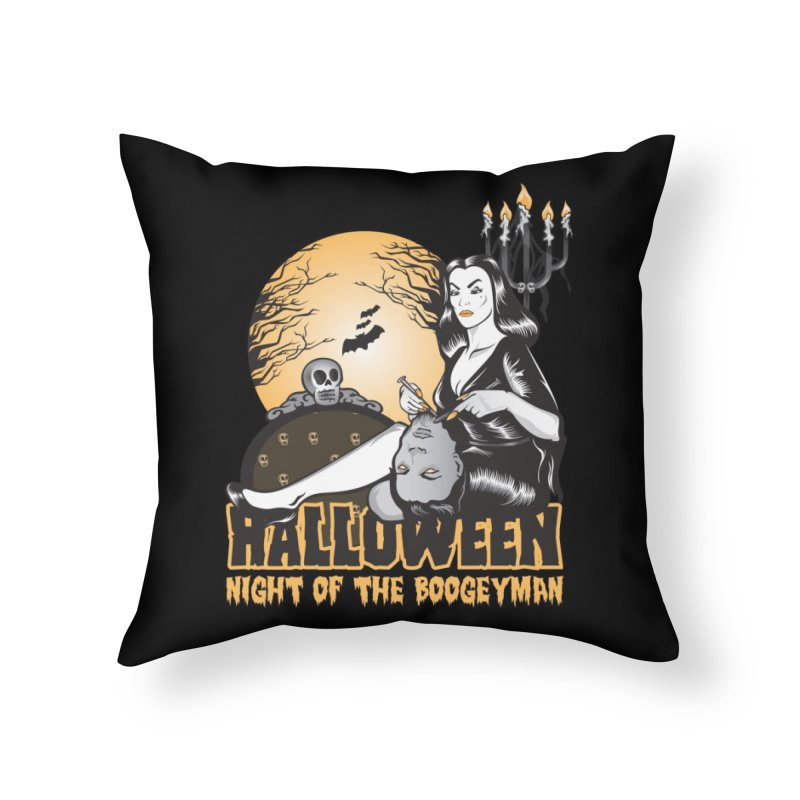 Night of the boogeyman Home Throw Pillow by malgusto