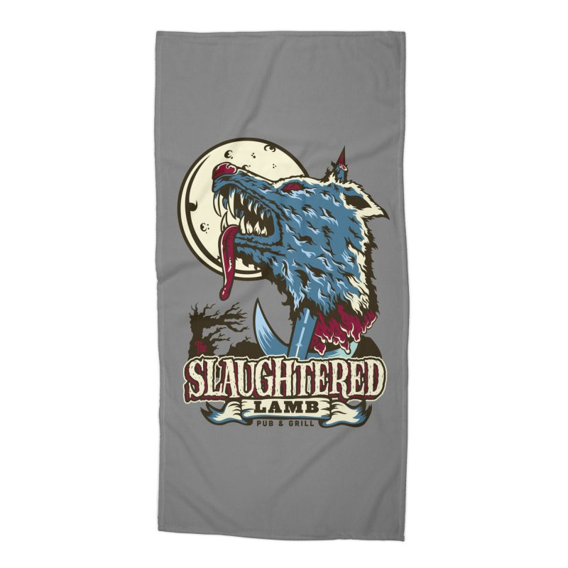 Slaughtered Lamb Accessories Beach Towel by malgusto