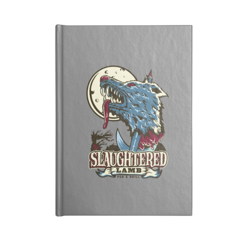 Slaughtered Lamb Accessories Lined Journal Notebook by malgusto