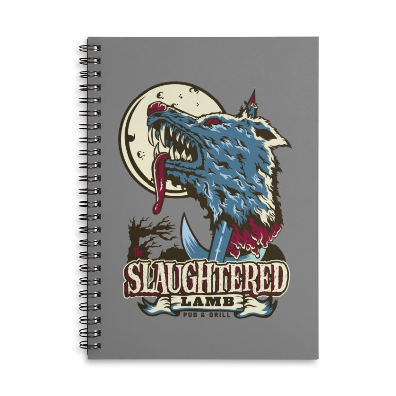 Slaughtered Lamb Accessories Lined Spiral Notebook by malgusto