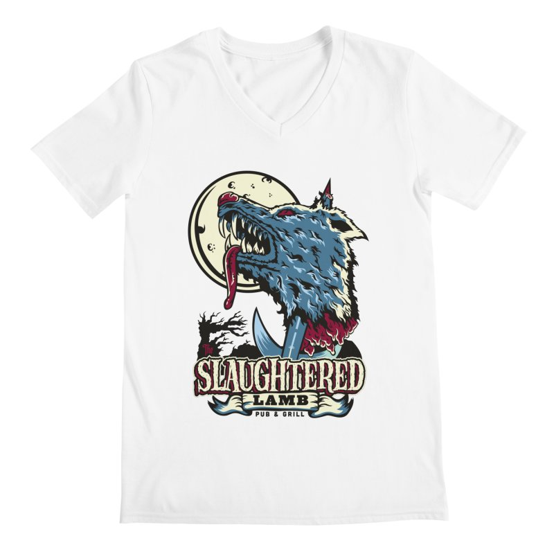 Slaughtered Lamb Men's V-Neck by malgusto