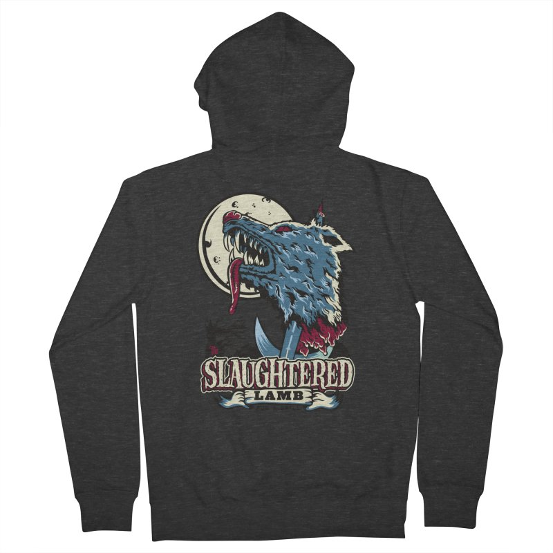 Slaughtered Lamb Men's French Terry Zip-Up Hoody by malgusto