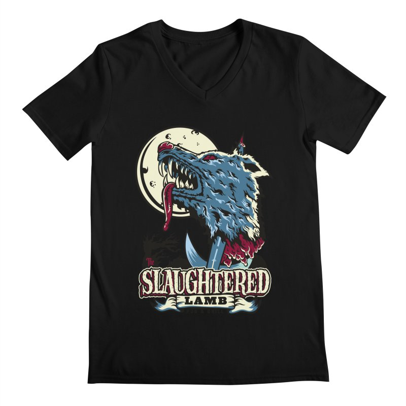 Slaughtered Lamb Men's Regular V-Neck by malgusto