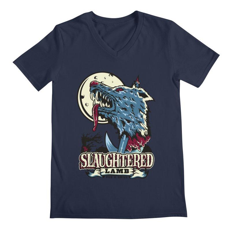 Slaughtered Lamb Men's V-Neck by malgusto