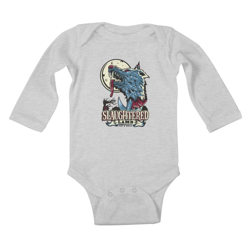 Slaughtered Lamb Kids Baby Longsleeve Bodysuit by malgusto