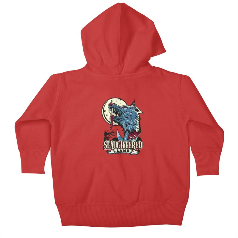 Slaughtered Lamb Kids Baby Zip-Up Hoody by malgusto