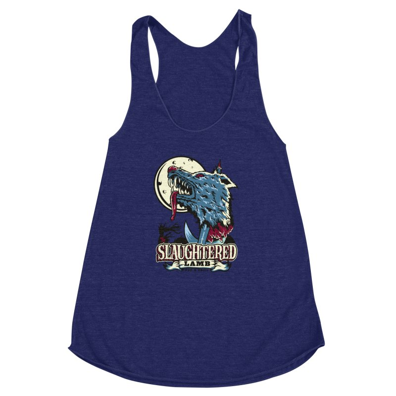 Slaughtered Lamb Women's Racerback Triblend Tank by malgusto