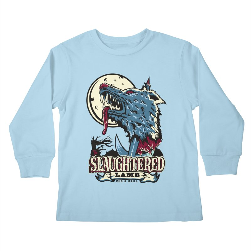 Slaughtered Lamb Kids Longsleeve T-Shirt by malgusto