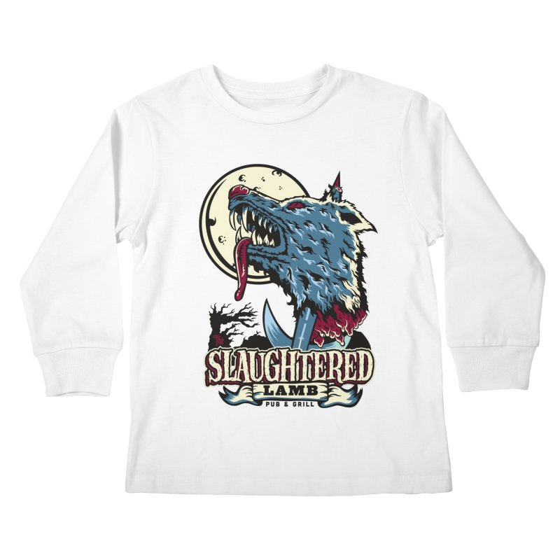 Slaughtered Lamb Kids Longsleeve T-Shirt by malgusto