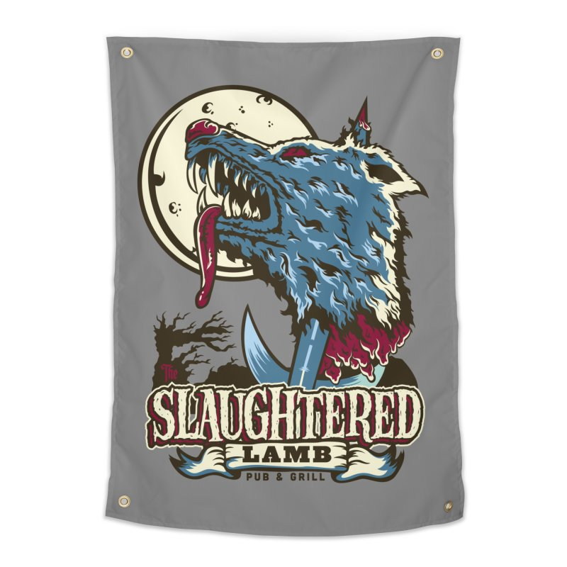 Slaughtered Lamb Home Tapestry by malgusto