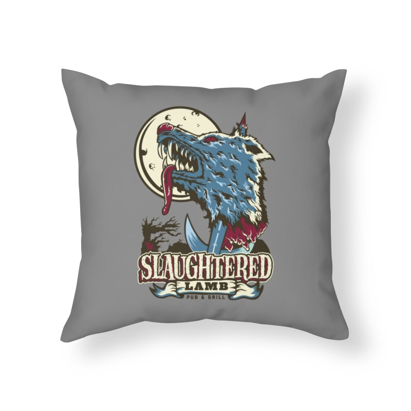 Slaughtered Lamb Home Throw Pillow by malgusto