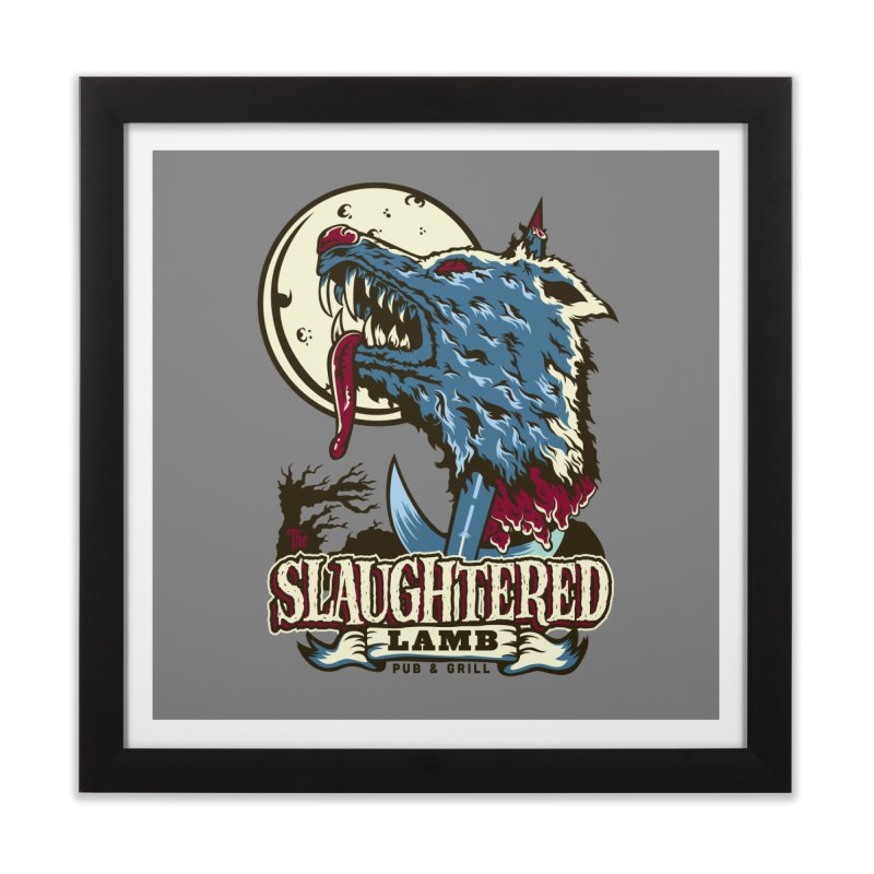 Slaughtered Lamb Home Framed Fine Art Print by malgusto