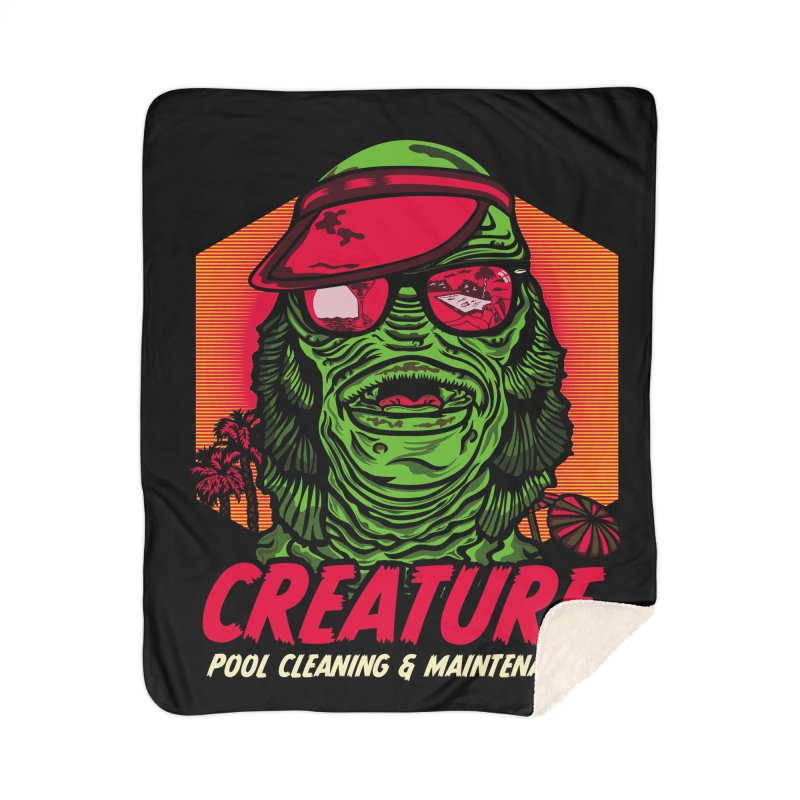 Creature Home Sherpa Blanket Blanket by malgusto