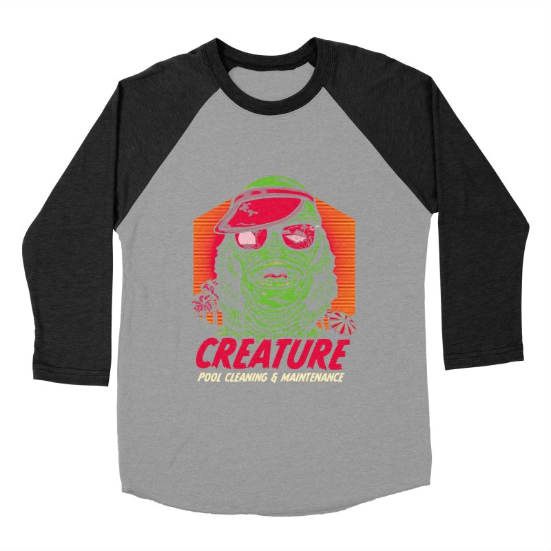 Creature Women's Baseball Triblend Longsleeve T-Shirt by malgusto