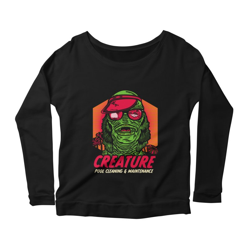 Creature Women's Scoop Neck Longsleeve T-Shirt by malgusto