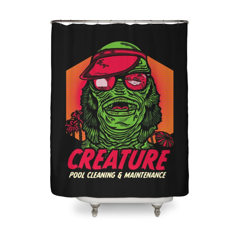 Creature Home Shower Curtain by malgusto