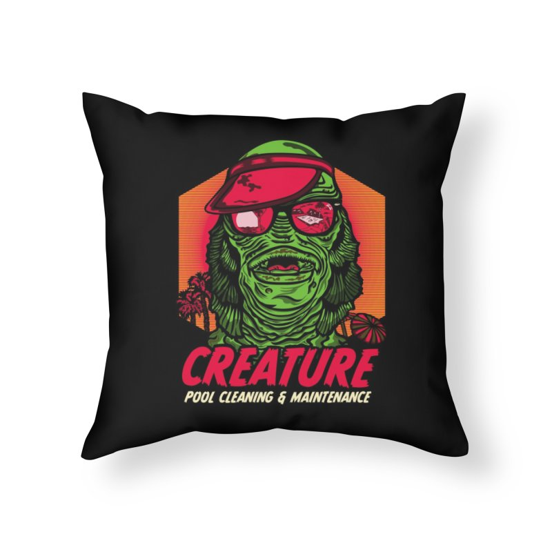 Creature Home Throw Pillow by malgusto