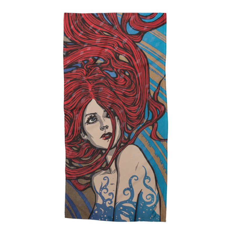 IMBER in Beach Towel by MALLEUS ROCK ART LAB