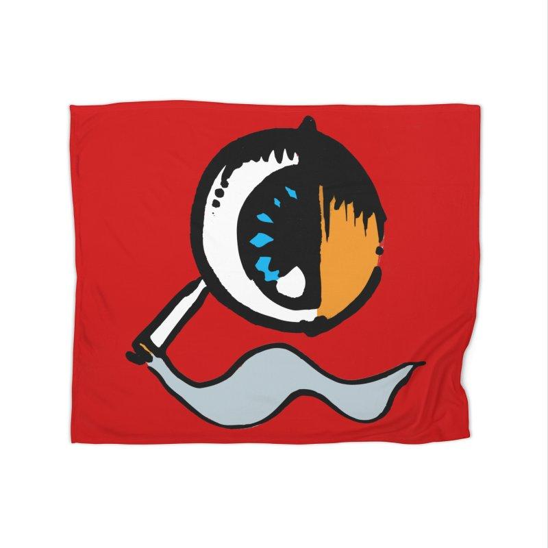 SMOKING EYE Home Blanket by MALLEUS ROCK ART LAB