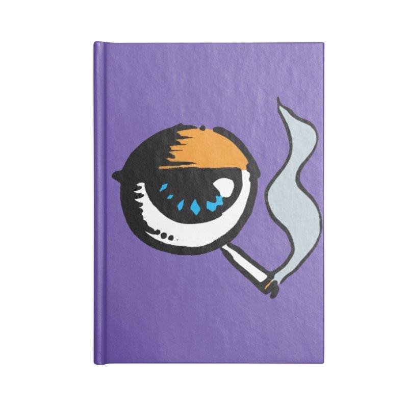SMOKING EYE Accessories Notebook by MALLEUS ROCK ART LAB