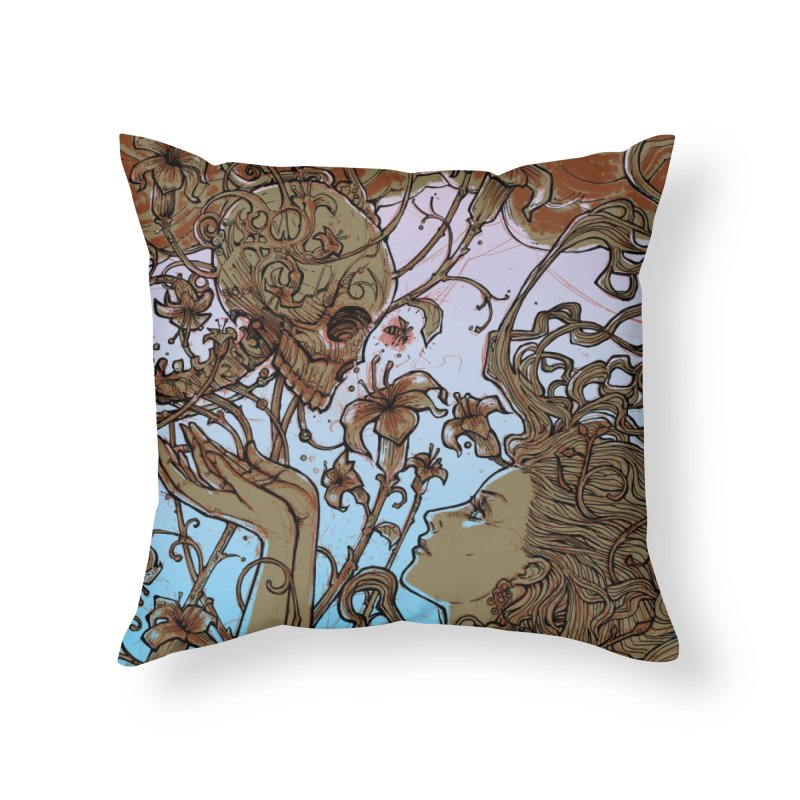 Cult Home Throw Pillow by MALLEUS ROCK ART LAB