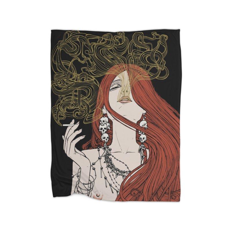 SMOKE Home Blanket by MALLEUS ROCK ART LAB