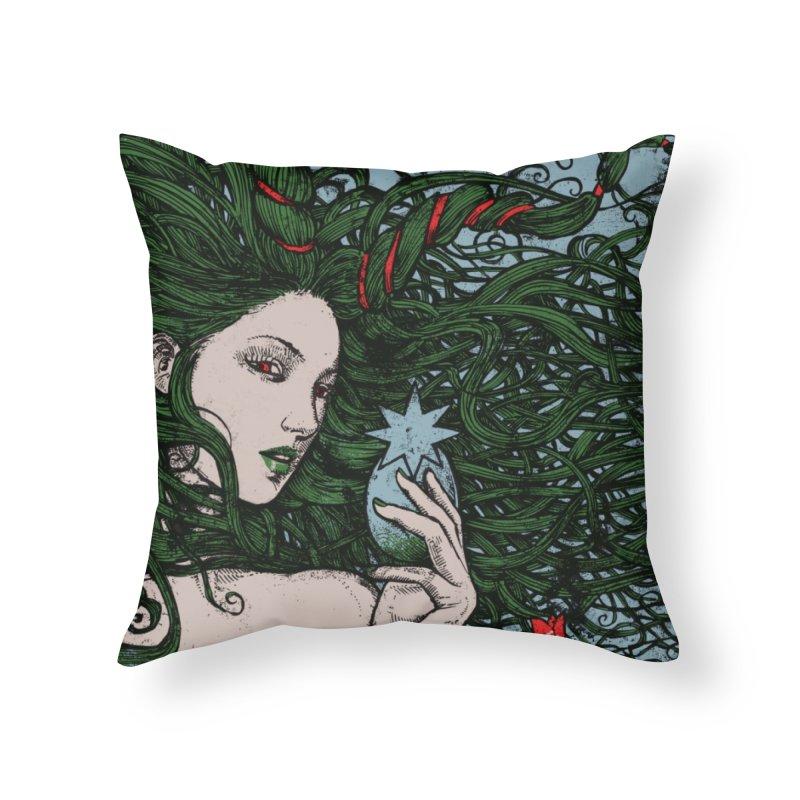 ISHTAR Home Throw Pillow by MALLEUS ROCK ART LAB