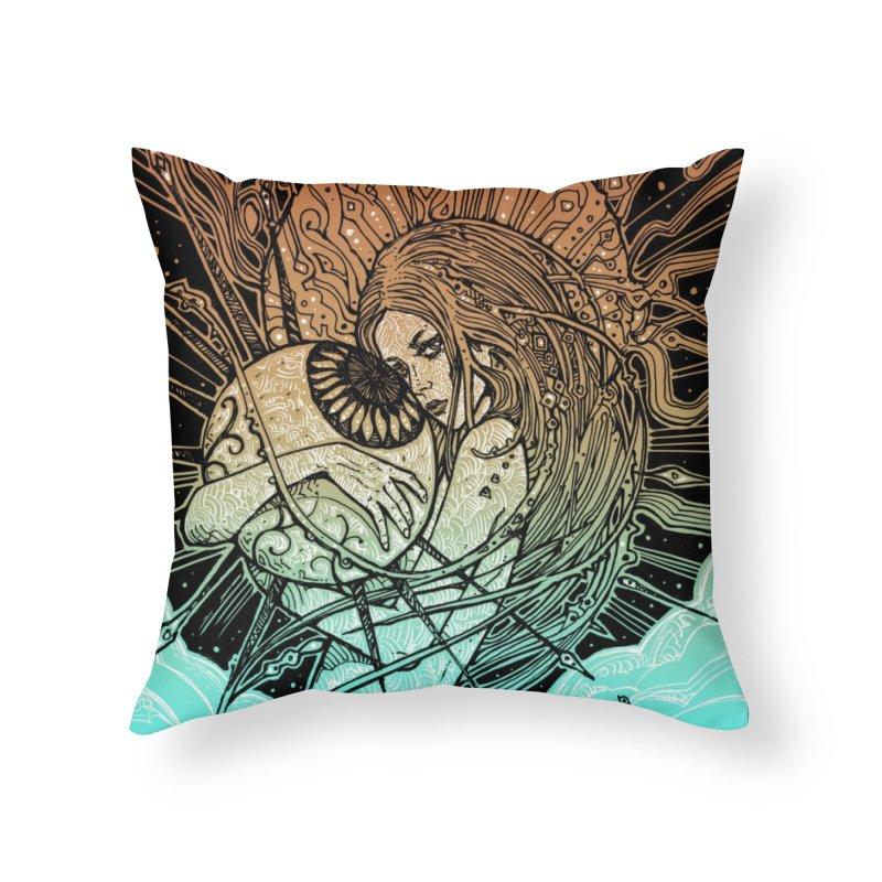 THEIA Home Throw Pillow by MALLEUS ROCK ART LAB