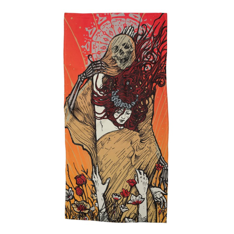 DOWN IN A HOLE Accessories Beach Towel by MALLEUS ROCK ART LAB