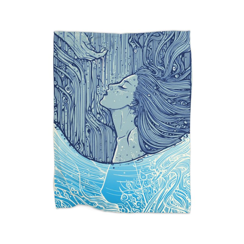 WATER Home Blanket by MALLEUS ROCK ART LAB
