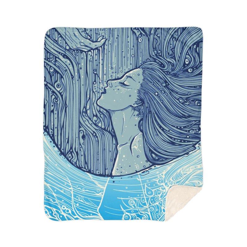 WATER Home Blanket by MALLEUS ROCK ART LAB