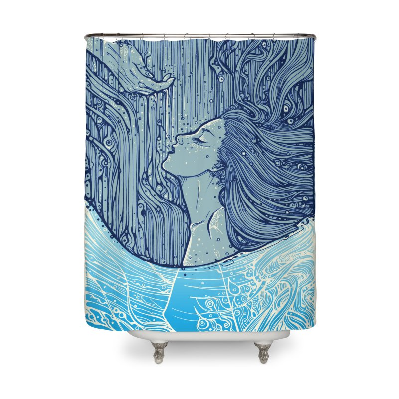 WATER in Shower Curtain by MALLEUS ROCK ART LAB