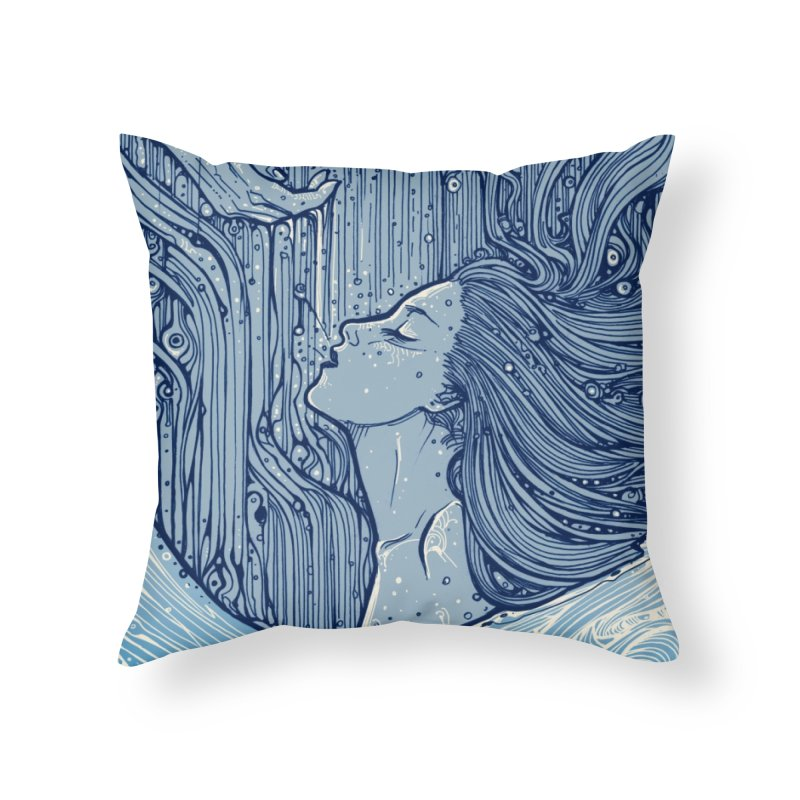 WATER in Throw Pillow by MALLEUS ROCK ART LAB