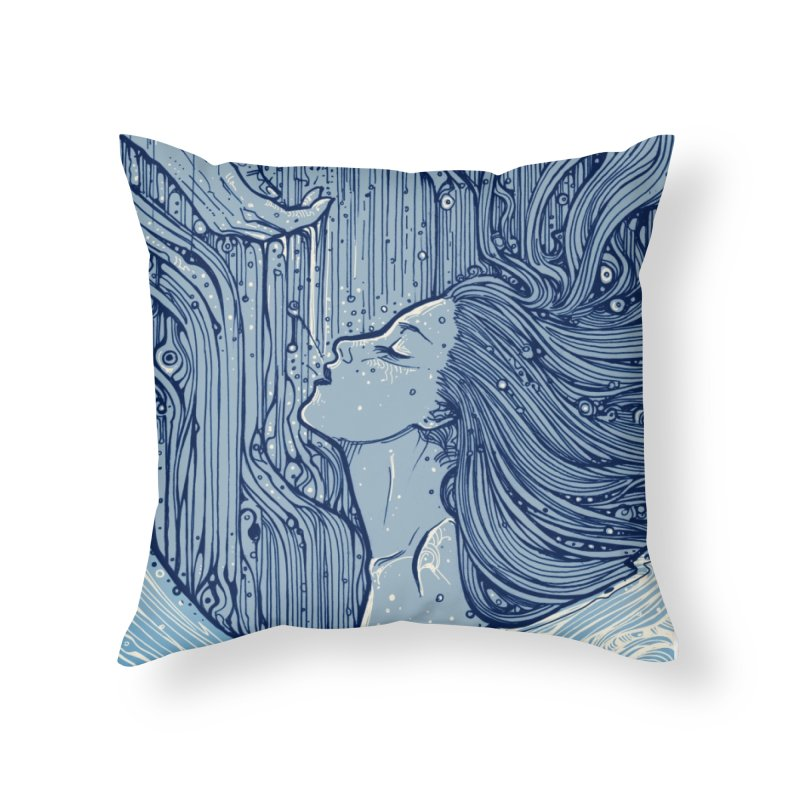 WATER Home Throw Pillow by MALLEUS ROCK ART LAB