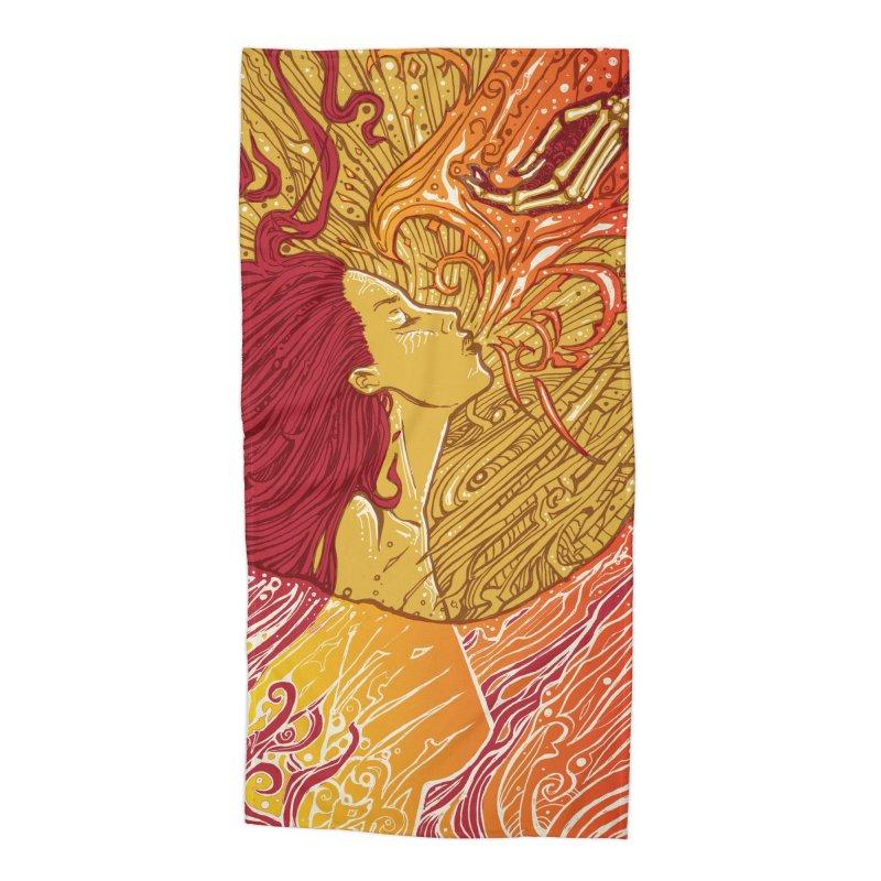 FIRE Accessories Beach Towel by MALLEUS ROCK ART LAB
