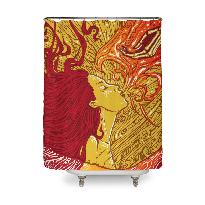 FIRE in Shower Curtain by MALLEUS ROCK ART LAB